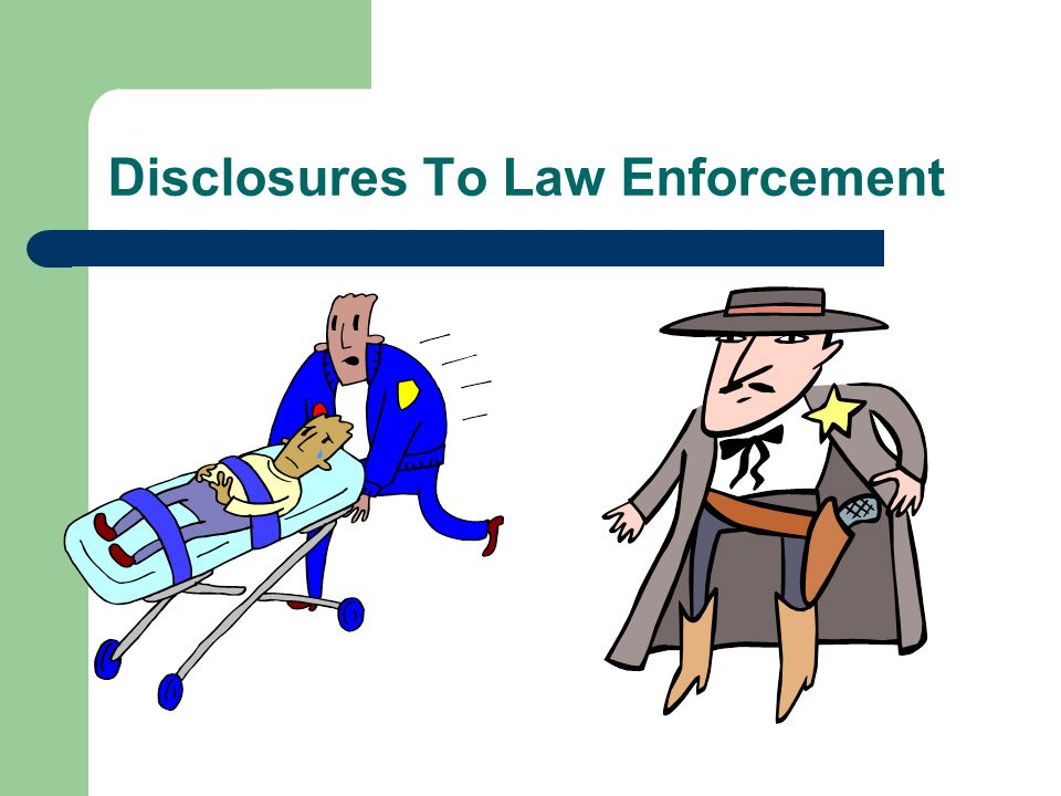 Disclosures Required by Law [Slide 2 of 2]